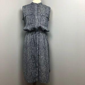 Ann Taylor Linen Blend Shirt Dress Size Small